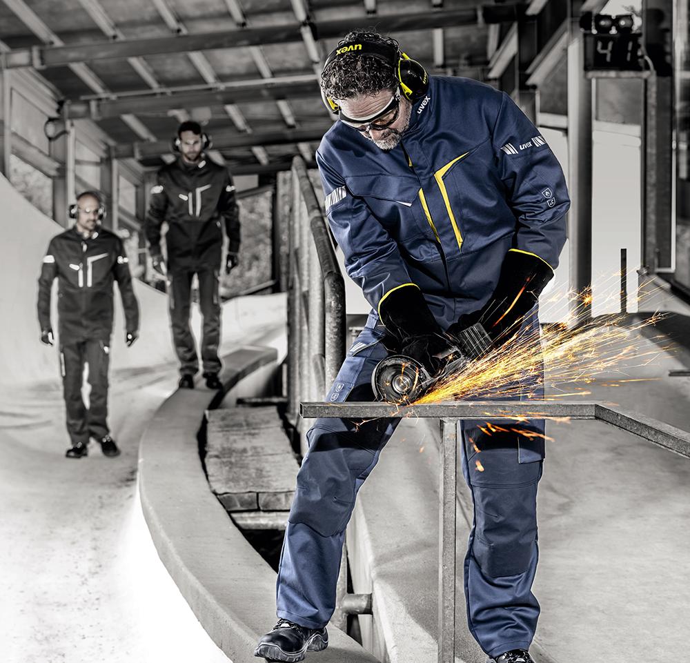 Flammschutzkleidung, flammhemmende Arbeitshose, Arbeitsjacke, uvex Schutzkleidung, Flammschutz Berufbekleidung