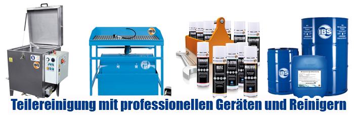 IBS Spezialreiniger, Industriereiniger für Teilewaschgerät, Teilewaschtisch, Teilereinigungsgerät, Industrie, Gewerbe, Kfz Werkstatt, technisches Spray