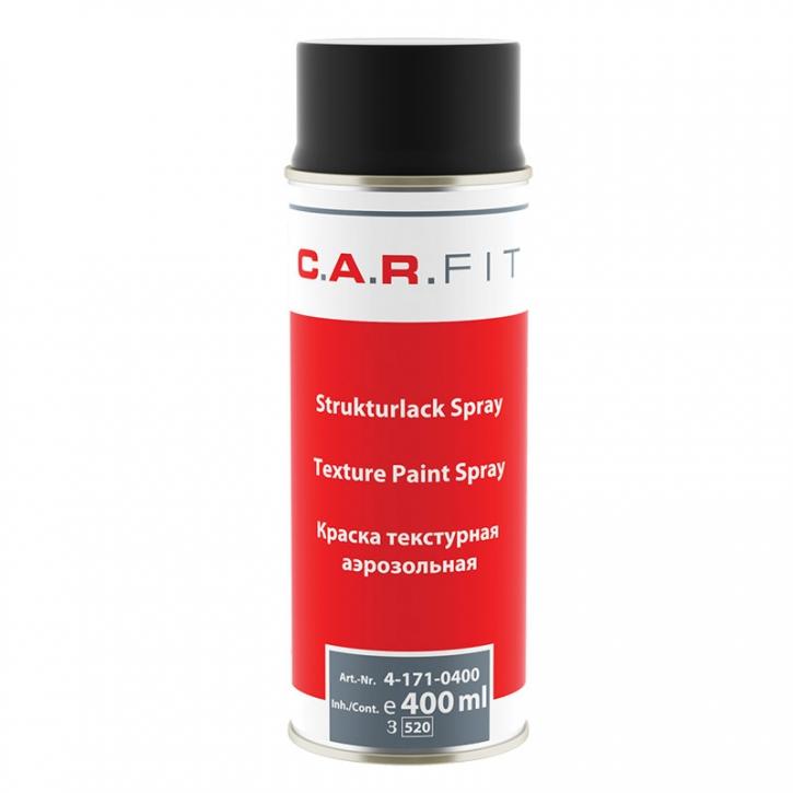 Strukturlack, Kunststoff-Strukturlack schwarz überlackierbar | 6x400ml | C.A.R.FIT
