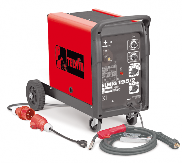 Schutzgas Schweißgerät 200A MIG/MAG Inverter 400V Telmig 195/2 Turbo