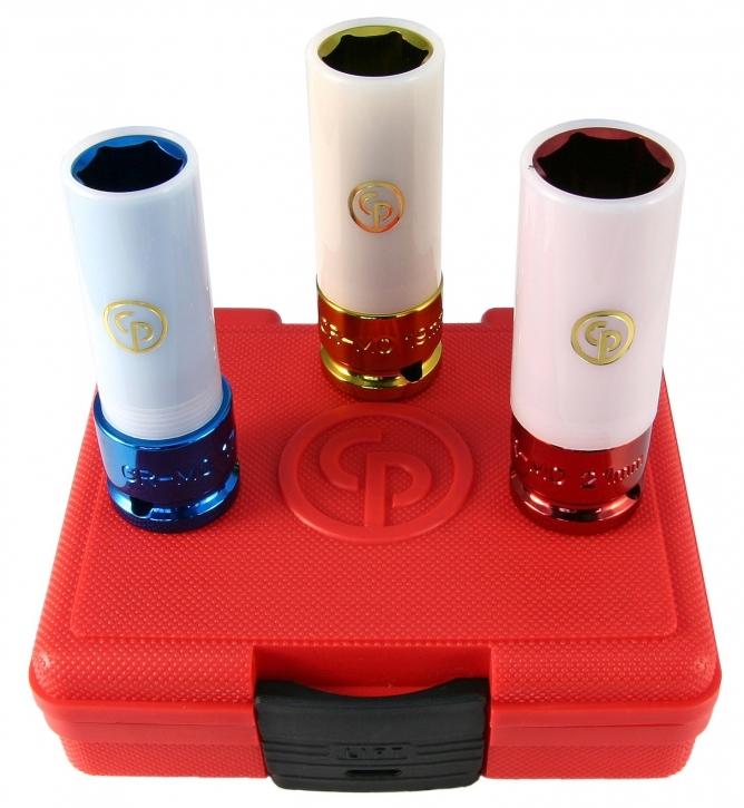 """3-teiliges 1/2"""" Zoll Steckschlüssel Set Plastik geschützt"""