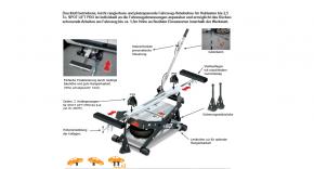 Kfz Hebebühne für Fahrzeuge Auto Pkw bis 2500 kg